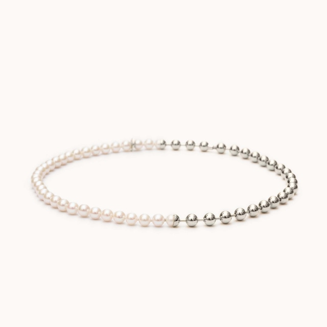 Ball Chain / Pearl Necklace ネックレス - art.1803N091040