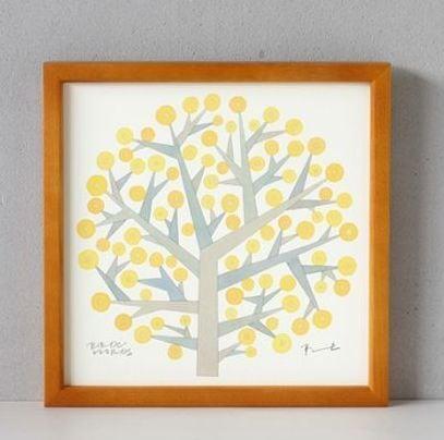 BIRDS WORDS POSTER 20  額装タイプ[木製]/TREE OF HOPE