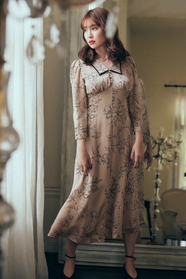 Limoges Vintage Satin Dress
