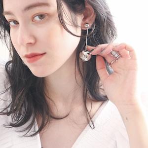 EARRINGS || 【通常商品】 BIG BALL SWING EARRINGS || 1 EARRINGS || SILVER || FBB058