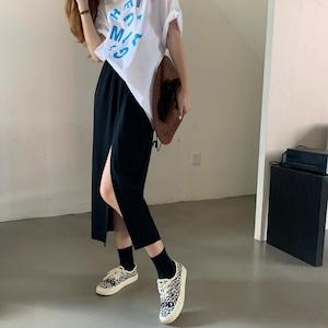 【スカート】スリットカジュアルロングスカート