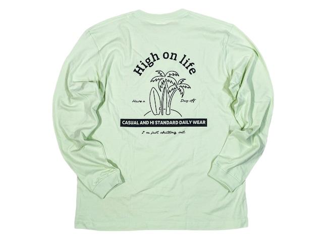 【High on life long sleeve】/ mint