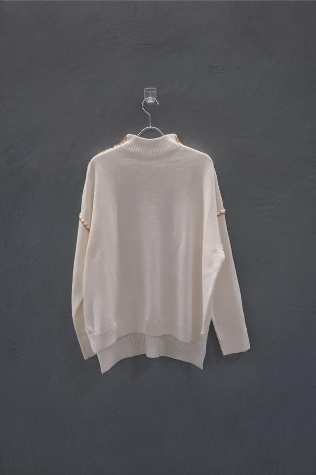 ℃℃℃ turtle stitch knit ivory