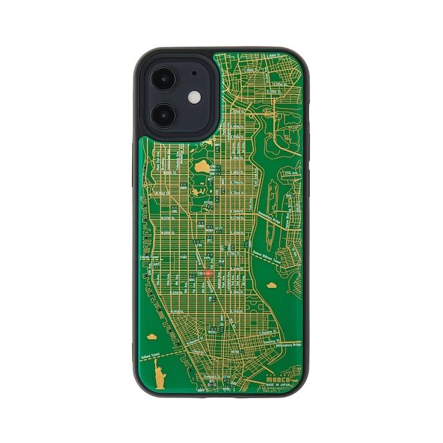 FLASH NY回路地図 iPhone 12 mini ケース  緑【東京回路線図A5クリアファイルをプレゼント】