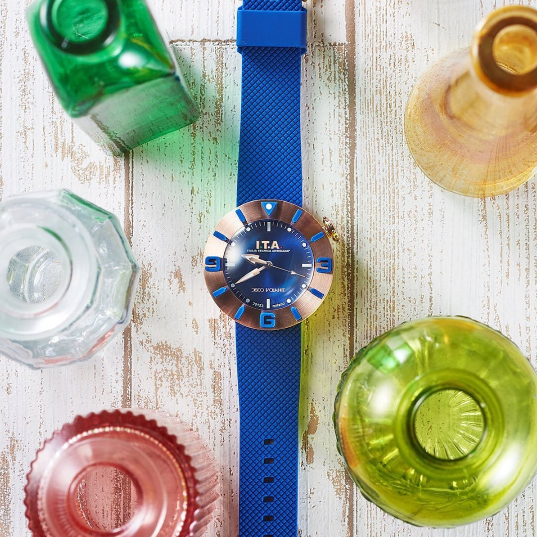 【I.T.A. アイティエー】DISCO VOLANTE ディスコ・ボランテ(ブルーゴールド)/国内正規品 腕時計