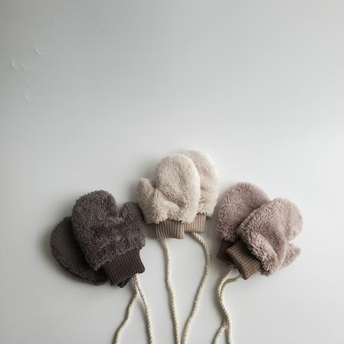 【即納】fluffy fleece mittens〔fluffyフリースミトン〕 here i am