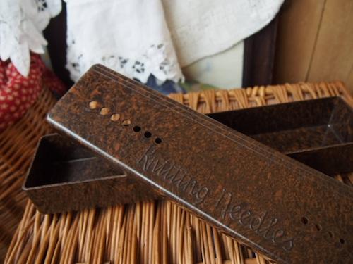 イギリスアンティーク 編み針ケース(茶)
