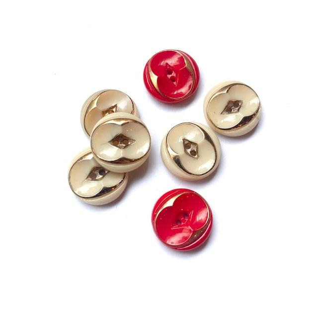 40'sGオーバル模様のチェコスロバキアヴィンテージボタンS(14mm)