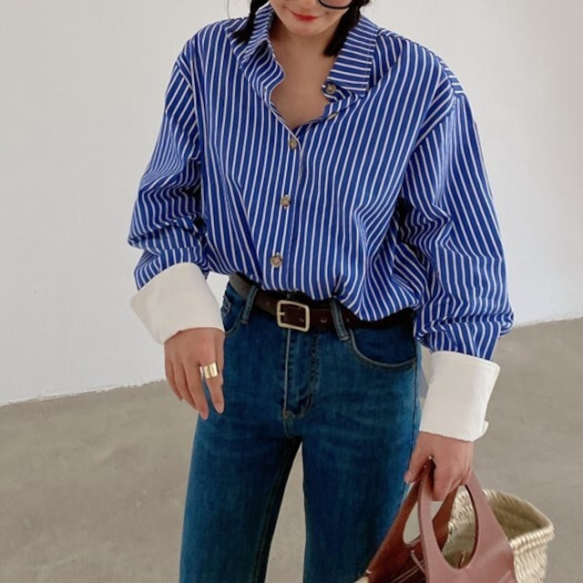 Stripe design shirt  KRE944