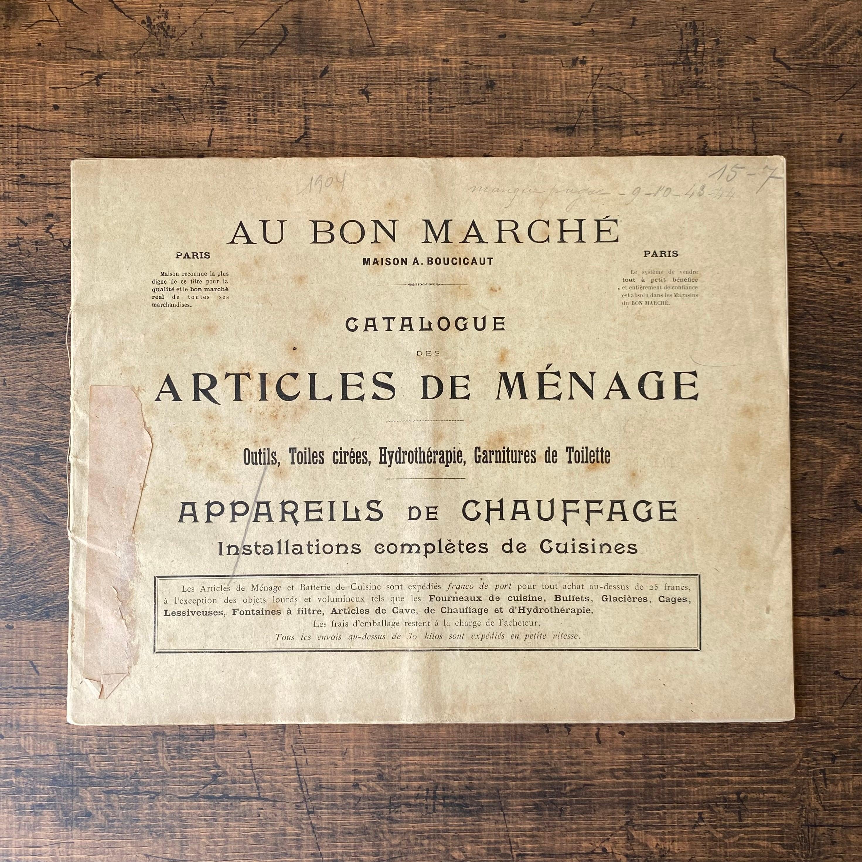 パリの百貨店 Au Bon Marché カタログ・フランスアンティーク / vp0248