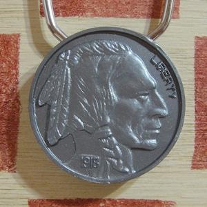 アメリカ RARE COIN SHOWRINGS 銀行ノベルティ ヴィンテージキーリング(インディアン ヘッド ニッケル)