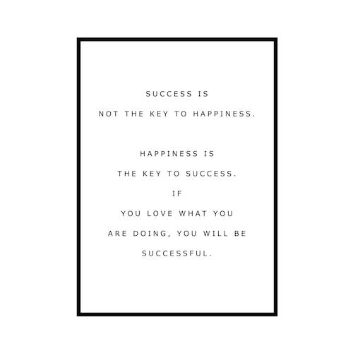 """SUCCESS IS..."" INSPIRATIONシリーズ [SD-000582] A3サイズ ポスター単品"