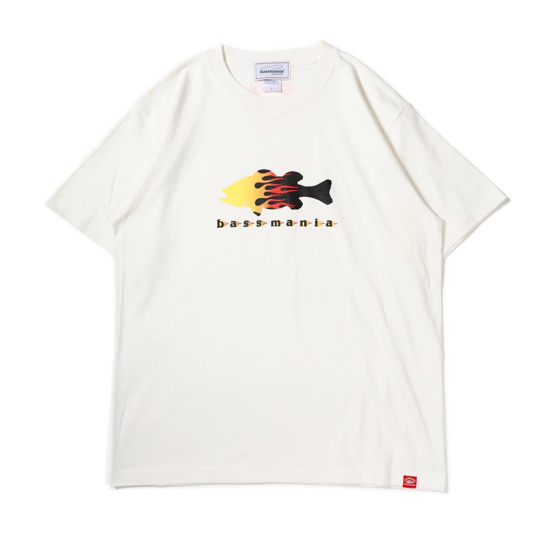 ファイヤーパターン Tシャツ[Vanilla.WHT]