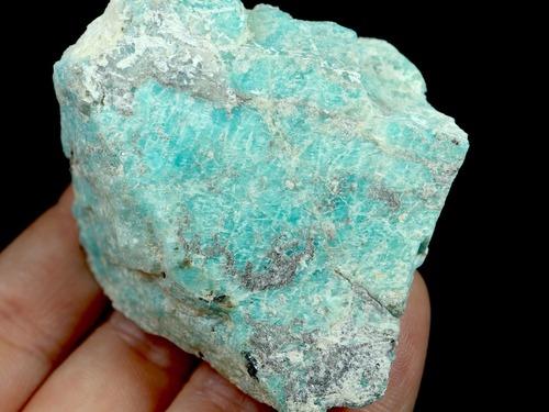 自主採掘!アマゾナイト カリフォルニア産 原石  73g AZ0057 天河石(てんがせき) 鉱物 天然石