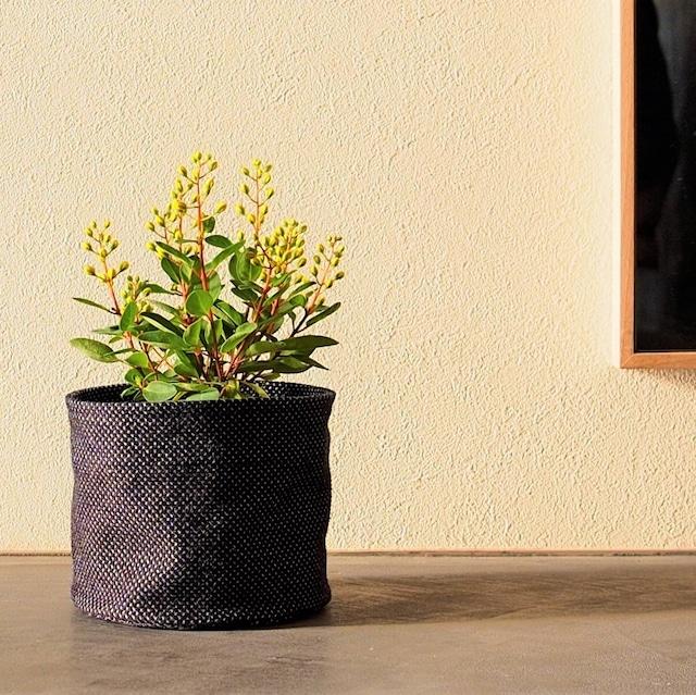うしじま縫製 | 武州正藍染 鉢カバー【Sサイズ】 一重刺子