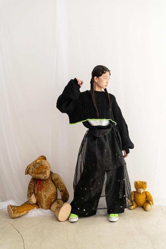 【21AW】フランキーグロウ ( frankygrow )ORGANDY JUMPUR SKIRT[ F ]black チュール スカート