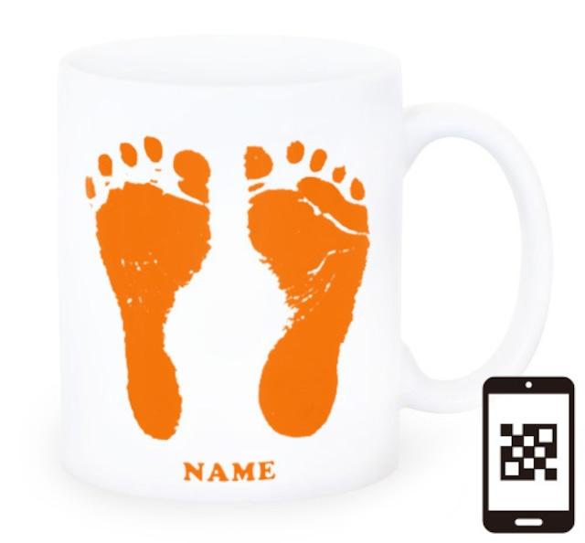 ai mug-white   A-type (ORANGE) QRコード付き