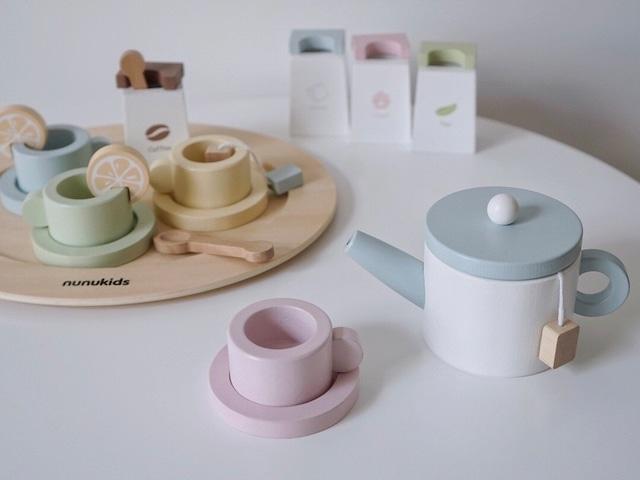【Toy】木製pot & cup set