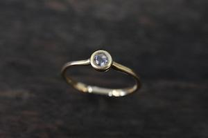 ローズカット ダイヤモンドリング 0.119ct / F / VS-1 / K18YG
