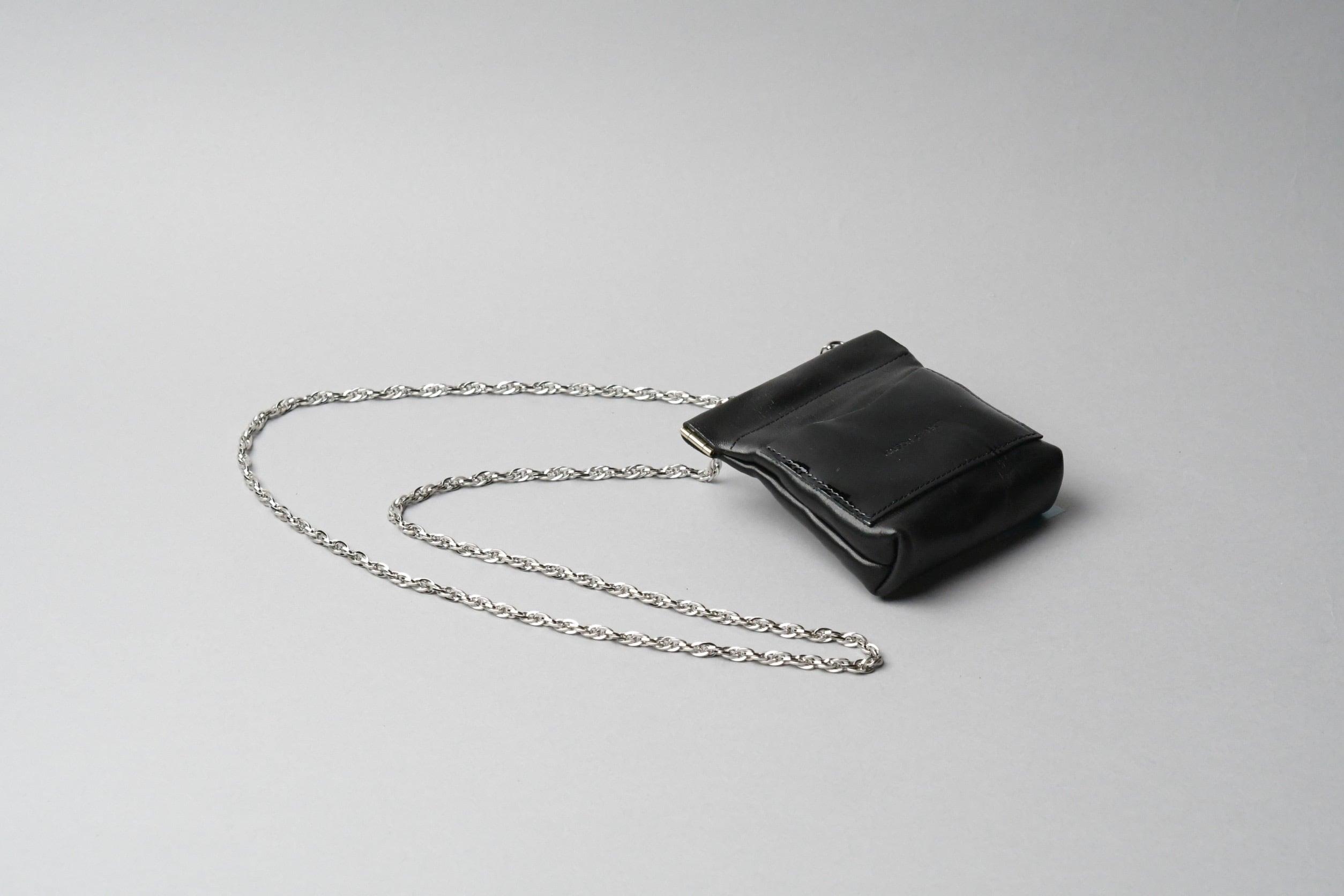 ワンタッチ・コインケース long ■ブラック・エナメルブラック■ - 画像1
