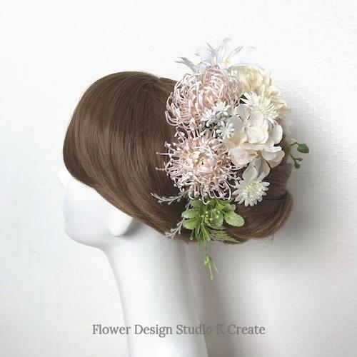 ウェディング・成人式に♡マムと胡蝶蘭のヘッドドレス(15本セット) 芍薬 布花 胡蝶蘭 結婚式 成人式