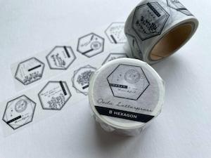 Masking tape【 8 hexagon 】