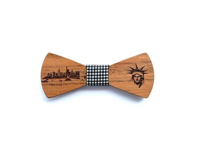 オフィシャル限定。木製 蝶ネクタイ #CityContrast NY - 画像1
