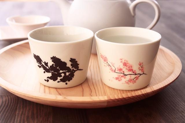 『期間限定温感ヒワ色カップ』『桜』 *温度で変化 湯呑 春 桜 温度で変化 お茶 ティー コーヒー インスタ映え 贈り物 プレゼント