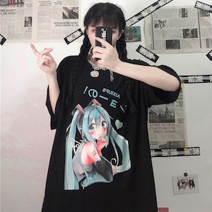 【トップス】アニメ図柄カジュアルキュートストリート系半袖Tシャツ45032730