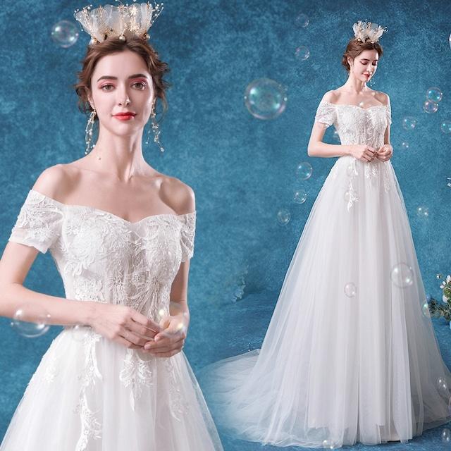 ロングドレス 花嫁ドレス パーティードレス ウェディングドレス 二次会 演奏会 お嫁さん 発表会 大きいサイズ XS S M L LL 3L 4L ボットネック ホワイト 白い
