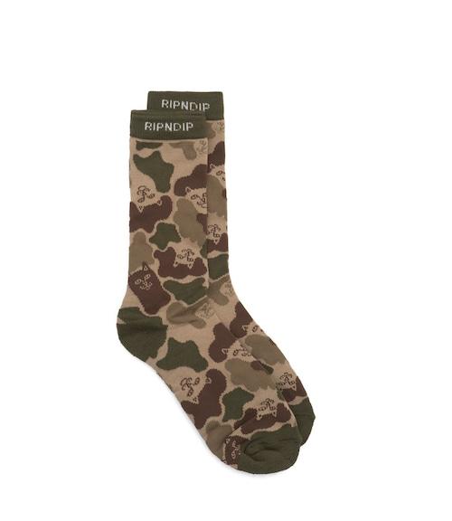 RIPNDIP nerm camo socks