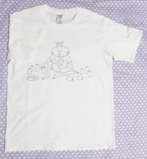 毛ガニさん晩酌Tシャツ