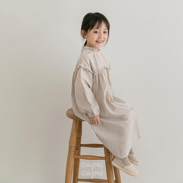 «sold out» La camel frill one piece フリルワンピース