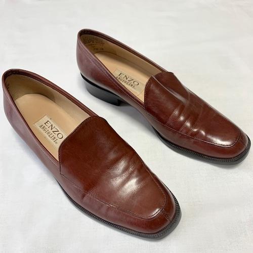 Brown Vintage Healed Loafers (24.5cm)