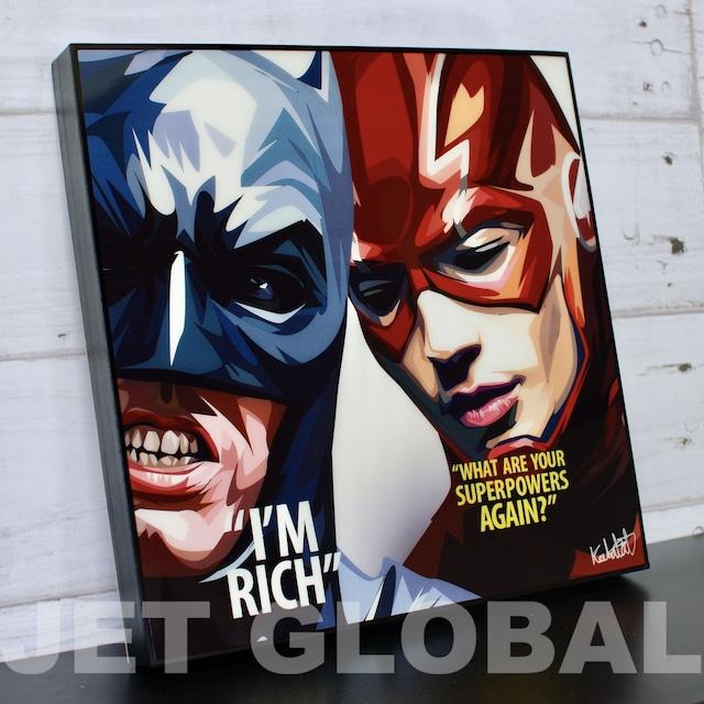 バットマン & フラッシュ/ BATMAN & THE FLASH / Lサイズ 52cm / PAPDC_0010