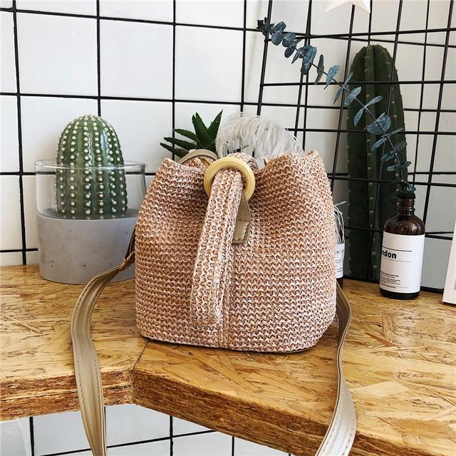 【バッグ】 ファッション 通販 人気キュット草編み肩掛けバッグ43203900