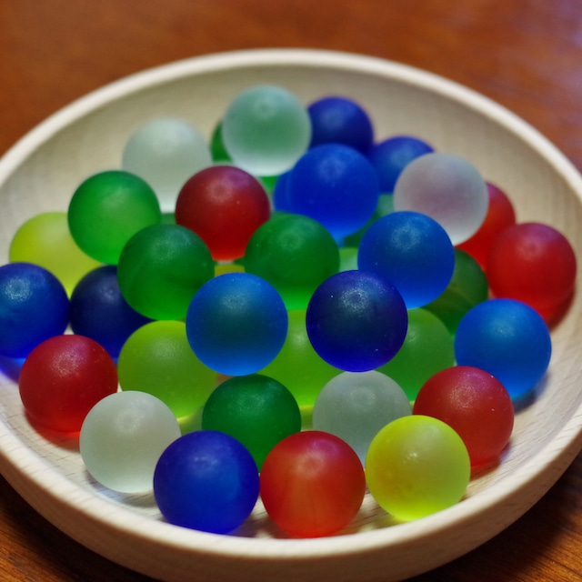 フロストグラスマーブル 6色ミックス17㎜ 30個(松野工業社製・国産)