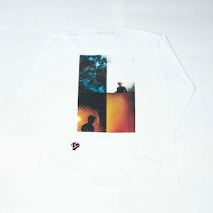 K'rooklyn Long T-Shirt × Yusuke Oishi (MARCOMONK)- White