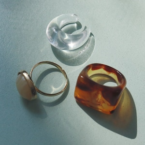 SET ITEMS || 【通常商品】AMBER DICE & MARBLE LOOK SET || 3 RINGS || MIX || CRSS0620Q