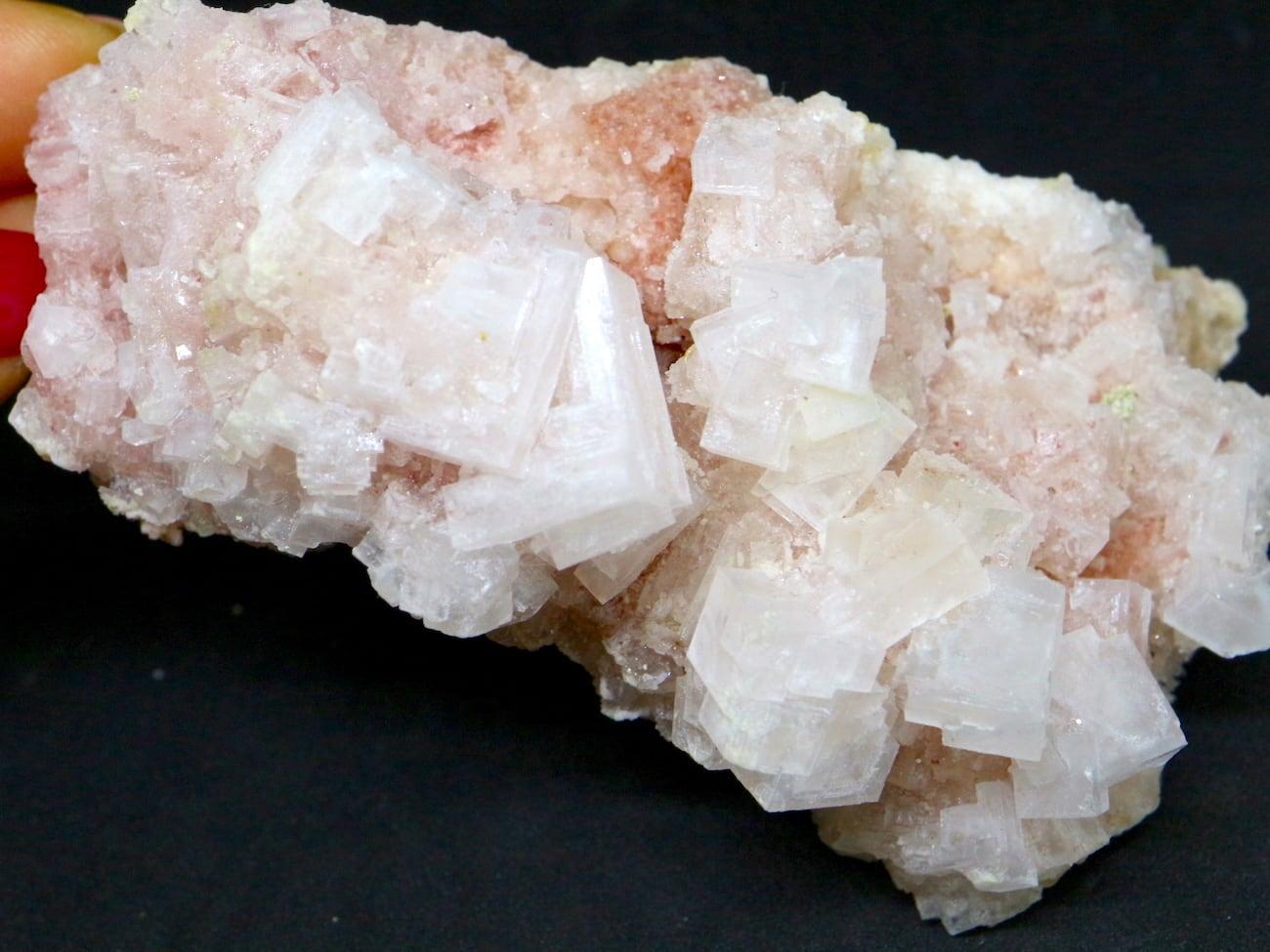 ピンクハーライト カリフォルニア産 142g 岩塩 PH056