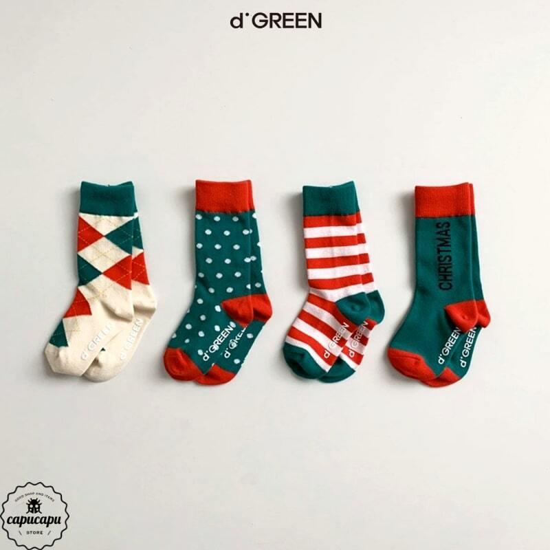 «sold out»«4足セット» happy holiday socks 4set クリスマスソックス 靴下