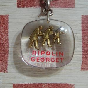 フランス RIPOLIN[リボラン] 塗装メーカー 職人トリオ ブルボンキーホルダー