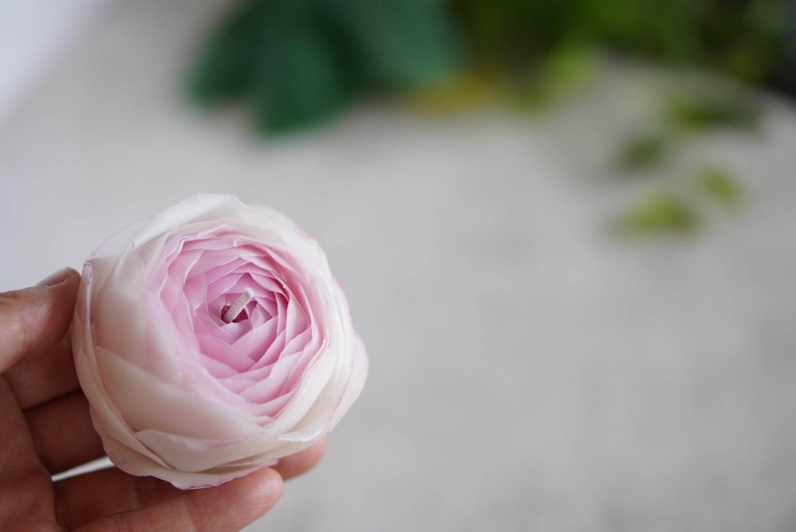ピエールドゥロンサール(バラ)のキャンドル