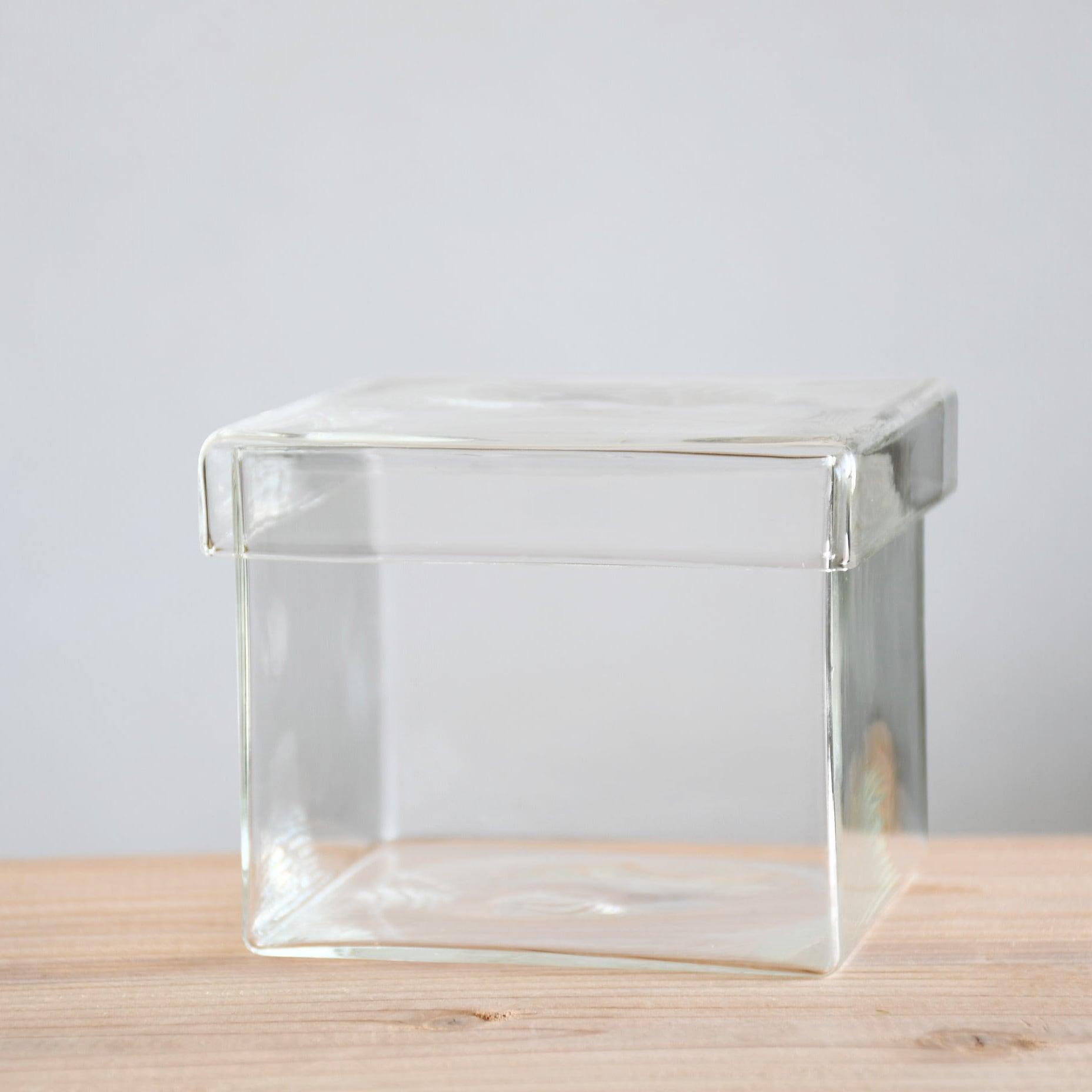 【ガラス容器】BOX L(100x100xh80mm)◆景色を作るのにおススメ
