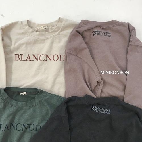 minibonbon ロゴロンT blancnoir 140~150