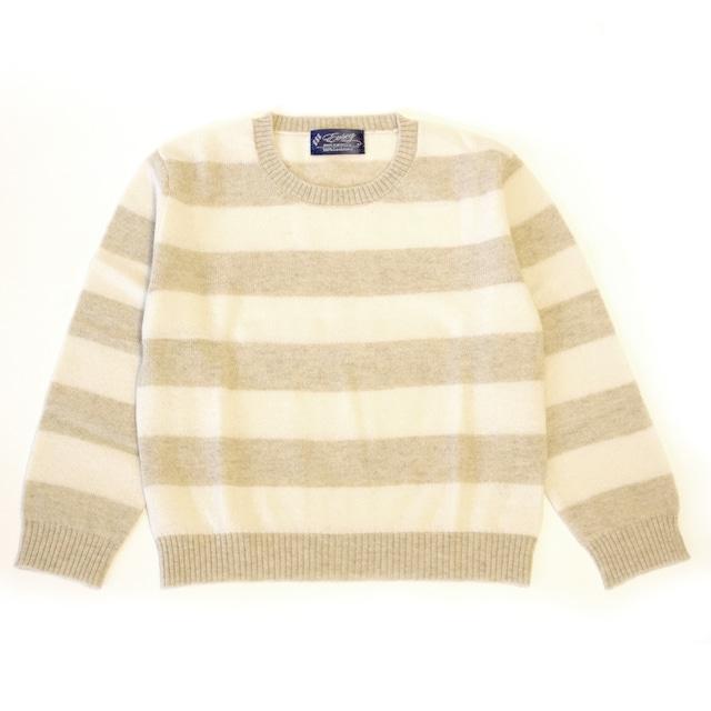 100%ピュアカシミヤ セーター(グレー&白色) お子様用