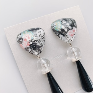 """ Earrings NO.danoan-1-1837″ リバティとmonotoneドイツビーズ"