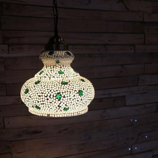 TOPANGA Lighting モザイクガラスランプ ラージドーム(スター)