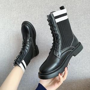 【シューズ】シンプルカジュアルレトロファッションショートブーツ43176207