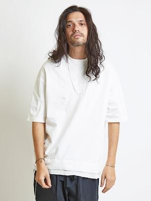 EGO TRIPPING (エゴトリッピング) LAYERED TEE レイヤードTシャツ / WHITE 663851-00